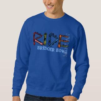 Ride Bridger Bowl Montana guys blue sweatshirt