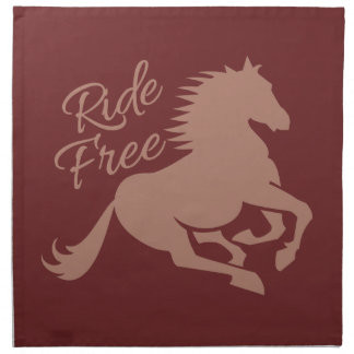 Ride Free custom cloth napkins