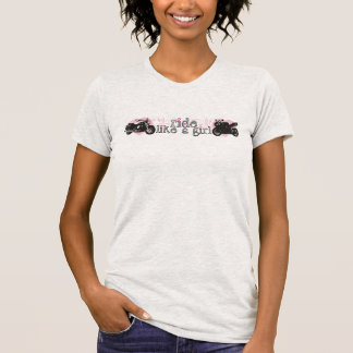 Ride Like A Girl Tee Shirt