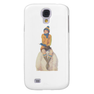 Ride the Snowman Galaxy S4 Case