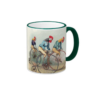Riding Roosters Coffee Mugs