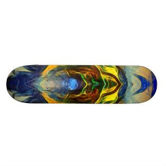 Riding Skateboard Deck