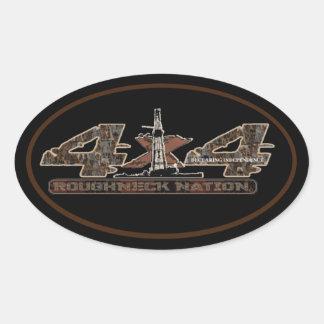 RIG UP CAMO Oilfield Oval Sticker