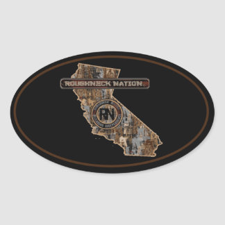 RIG UP CAMO Oilfield Oval Sticker