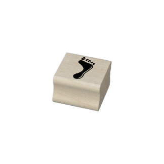 Right foot rubber stamp