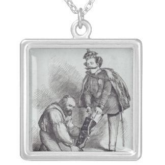 Right Leg in the Boot at Last' Silver Plated Necklace