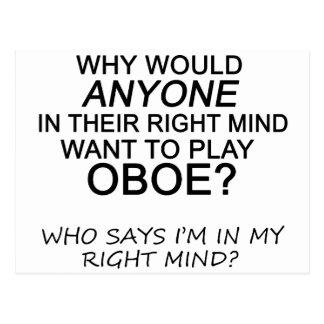 Right Mind Oboe Postcard