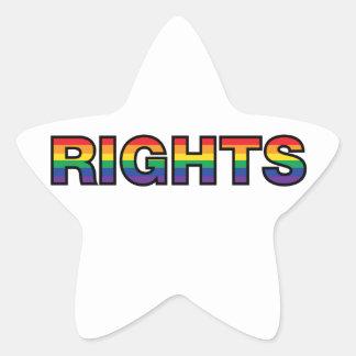 RIGHTS STAR STICKER