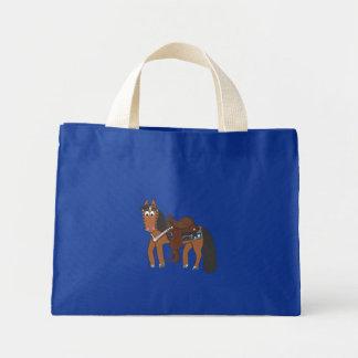 Riki Western horse Mini Tote Bag