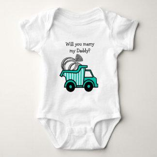 Ring Bearer Dump Truck Baby Bodysuit