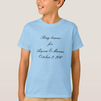 Ring bearer for __________ T-Shirt