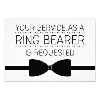 Ring Bearer Request | Groomsmen 9 Cm X 13 Cm Invitation Card