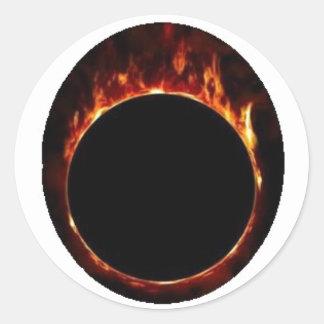 ring fire ball round sticker