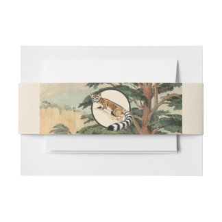 Ring-Tailed Cat In Natural Habitat Illustration Invitation Belly Band