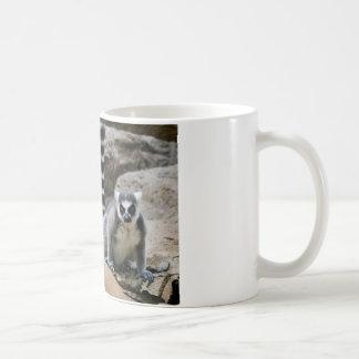 RIng Tailed Lemur Basic White Mug