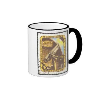 Ringer Mug - USSR 1957 Astronomy Space Stamp Art