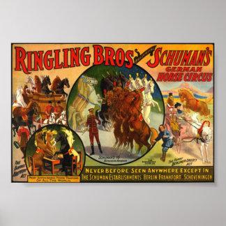 Ringling Bros Circus Poster vintage