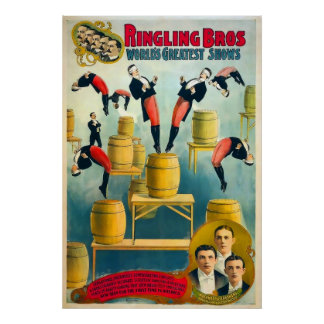 Ringling Brothers Circus Vintage Poster