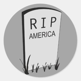 RIP America Classic Round Sticker