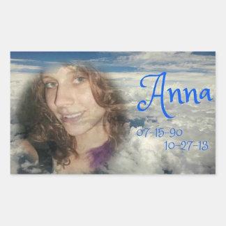 rip ANNA Rectangular Stickers
