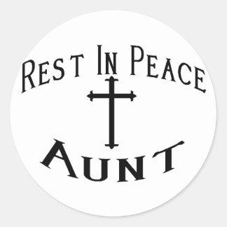 RIP Aunt Round Sticker