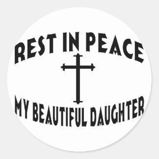 RIP Daughter Round Sticker