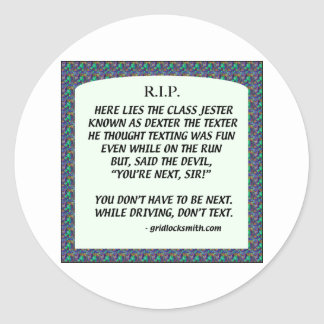 RIP-DEXTERtheTEXTER Round Sticker
