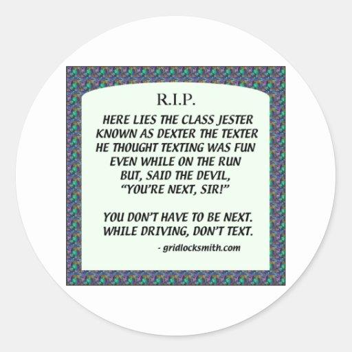 RIP-DEXTERtheTEXTER Sticker
