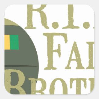 RIP Fallen Brothers Square Sticker