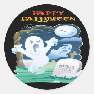 RIP Ghosts Classic Round Sticker