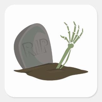 Rip Grave Square Stickers