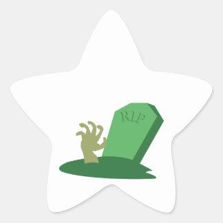 RIP Grave Star Sticker