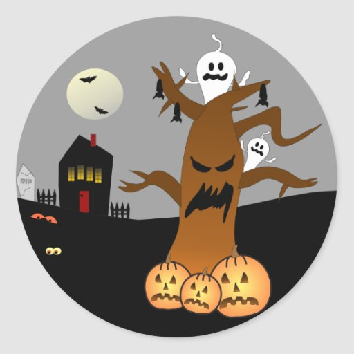 RIP Graveyard Halloween Stickers