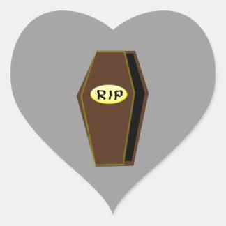 RIP Halloween Coffin of Doom Sickers Heart Sticker