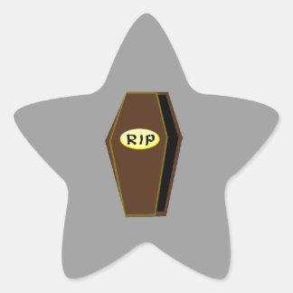 RIP Halloween Coffin of Doom Stickers
