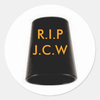 RIP J BIRD CLASSIC ROUND STICKER