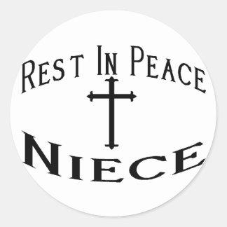 RIP Niece Round Sticker