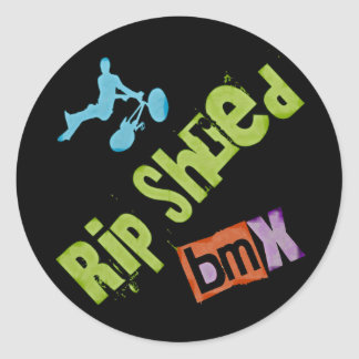 Rip Shred BMX Round Sticker