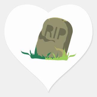 RIP Tombstone Heart Sticker