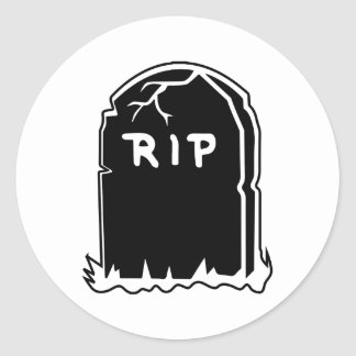 RIP Tombstone Stickers