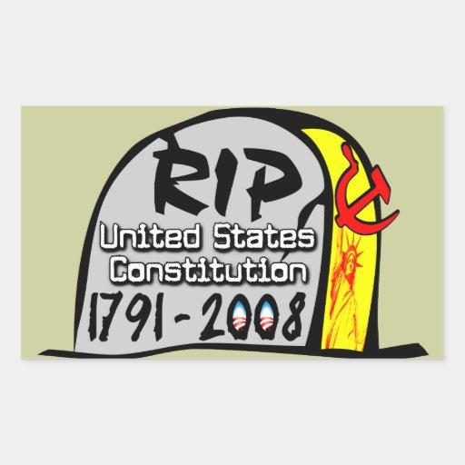 RIP US Constitution Sticker