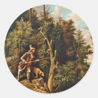 Rip Van Winkle and Hound Dog Sticker