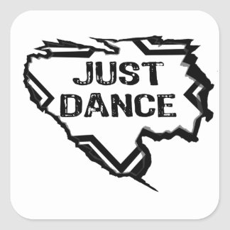 Ripped Star - Just Dance- Black Square Sticker