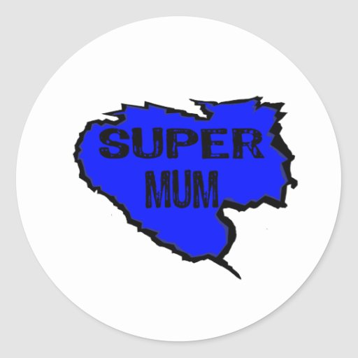 Ripped Super Mum- Black Text/ Purple Sticker