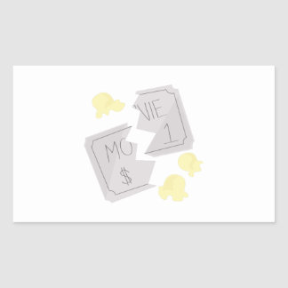 RippedMovieTicket_Base Rectangular Sticker