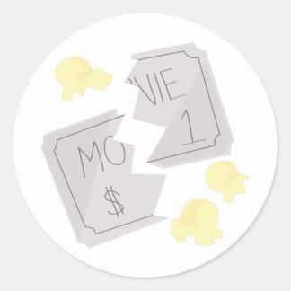 RippedMovieTicket_Base Round Stickers
