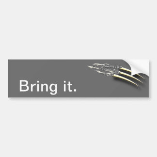 Ripping Claws Bumper Sticker