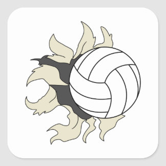 RIPPING VOLLEYBALL SQUARE STICKER