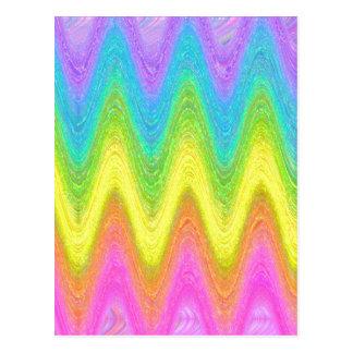"""""""Rippled Rainbow"""" Postcard"""