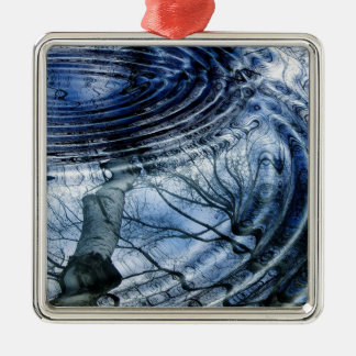 Ripples in Blue Christmas Ornament